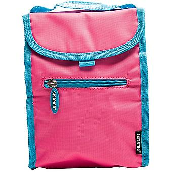 Sistema Fold Up Insulated Lunch Cooler Bag Pink