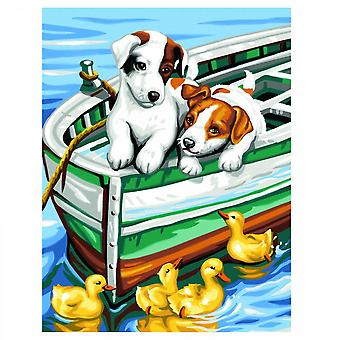 Sequin Art Puppies And Ducks Painting By Numbers