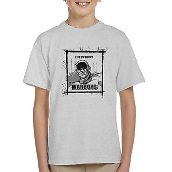 Life is Shiny In The War Boys Mad Max Fury Road Kid's T-Shirt