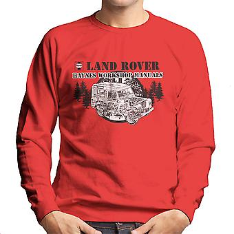 Haynes Owners Workshop Manual Land Rover Forest Black Men's Sweatshirt