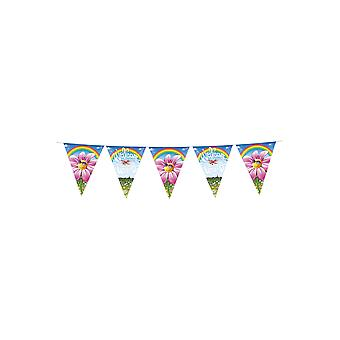 Party favors  Flags line welcome home