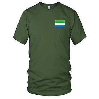 Drapeau National du pays de Sierra Leone - brodé Logo - T-Shirt 100 % coton T-Shirt Mens