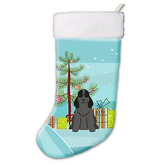 Merry Christmas Tree Cocker Spaniel Black Christmas Stocking
