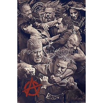 Sons Of Anarchy Fighting Poster Poster Print