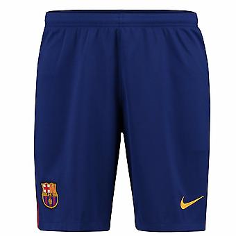 2017-2018 Barcelona Home Nike Football Shorts Blue (Kids)