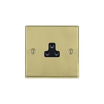 Hamilton Litestat Hartland Polished Brass 1g 2A Unswitched Socket BL