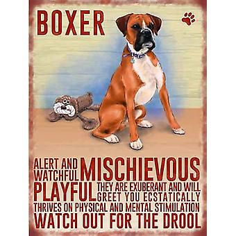 Boxer Wall Plaque by The Original Metal Sign Co