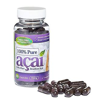 100% Pure Acai Berry 700mg with No Fillers or Bulking Agents - 60 Capsules - Acai Berry - Evolution Slimming