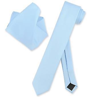 Vesuvio Napoli mager 2,5-tommers slips lommetørkle trange halsen Tie sett