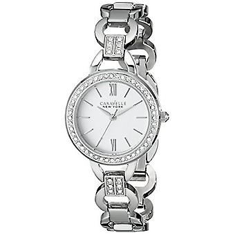 Caravelle New York Women's 43L180 Analog Display Analog Quartz White Watch