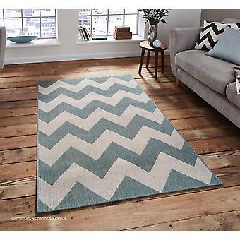 Sommerhus blå tæppe