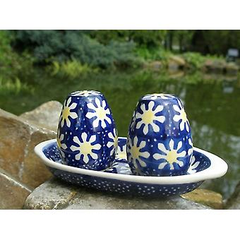 Salt + pepper set with pedestal, traditional 65, BSN m-5085
