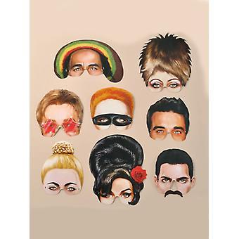 Musica icona maschera - confezione da 8