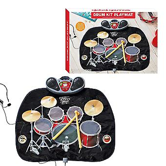 Global Gizmos Childs Drum Kit Playmat MP3 pelit hauska lelu