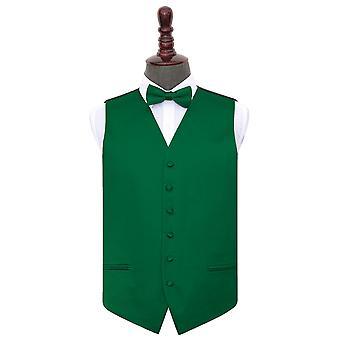 Smeraldo verde pianura sposa in panciotto & Bow Tie Set