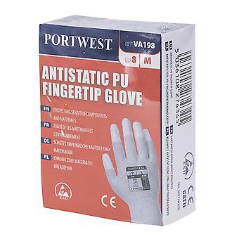 Portwest Pánske predajné antistatické PU fingertip rukavice