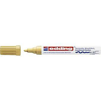 Edding E-4000 4-4000053 decoratieve marker goud 2 mm, 4 mm 1 stuks/pak