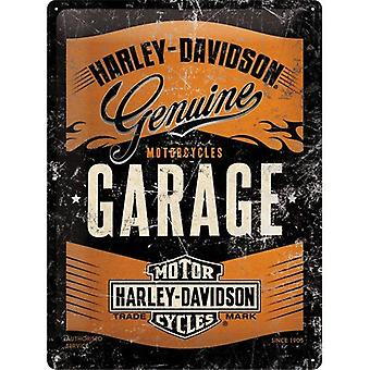 Harley Davidson Garage Special Edition Large Embossed Steel Sign 400Mm X 300Mm