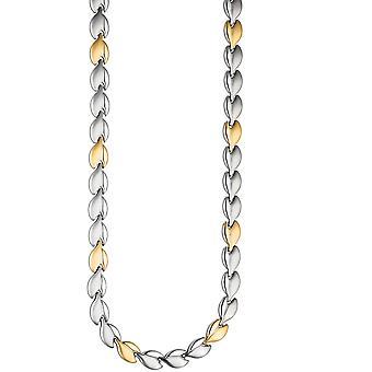 قلادة قلادة سلسلة الفولاذ المقاوم للصدأ القلادة الذهبية اللون مغلفة سلسلة ذو لونين 45 سم