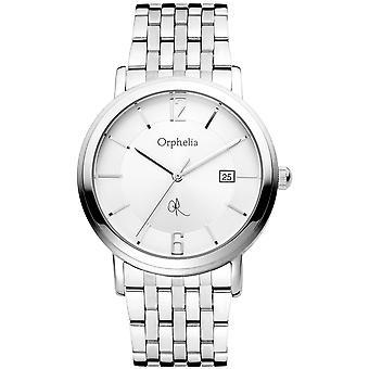 ORPHELIA Herren Analog Armbanduhr Puro Silber Edelstahl 132-7709-88