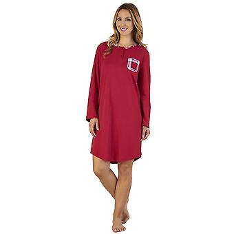 Slenderella NS2216 vrouwen de geruite Interlock slaap Shirt Nighty Nachthemd