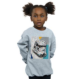 Star Wars Girls Stormtrooper Pattern Helmet Sweatshirt