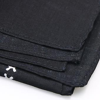 TRIXES черные бандана с двухсторонней белый череп дизайн головные платки