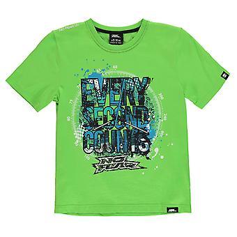 No miedo niños niños Moto gráfico T Camisa cuello Junior Tee Top manga corta