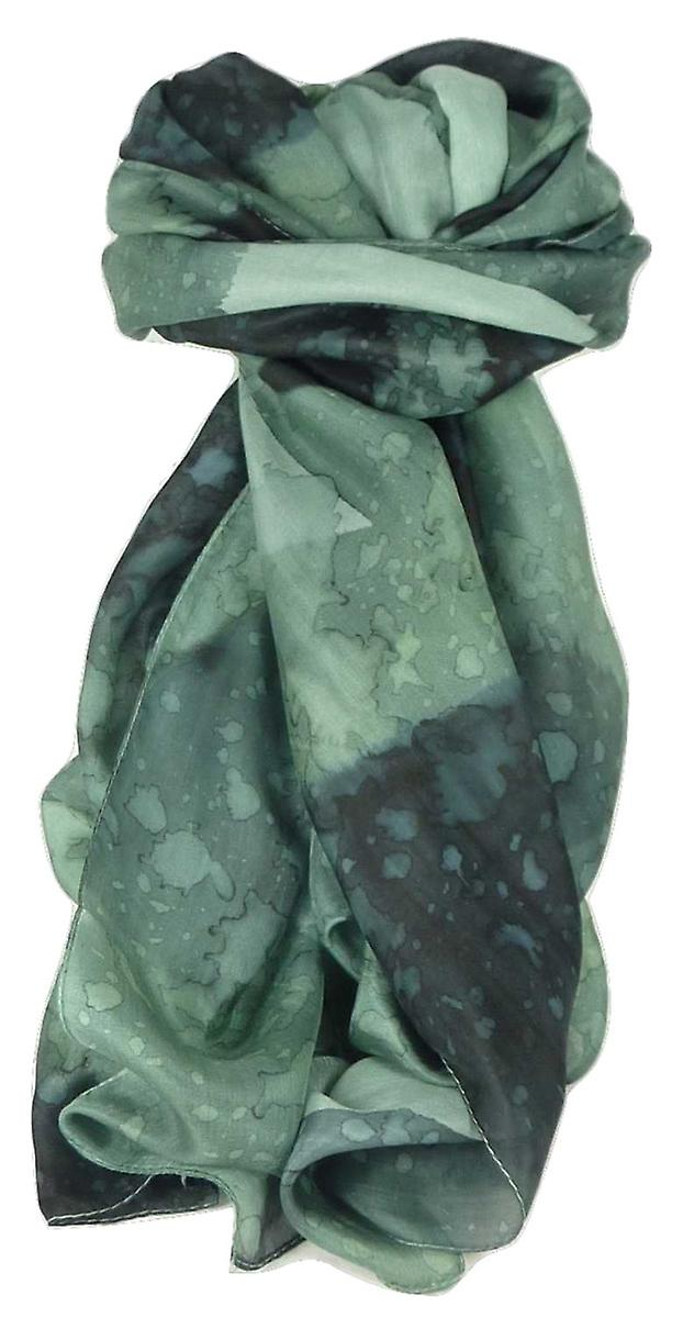 Mulberry Silk Painted Long Scarf Classic Charcoal by Pashmina & Silk
