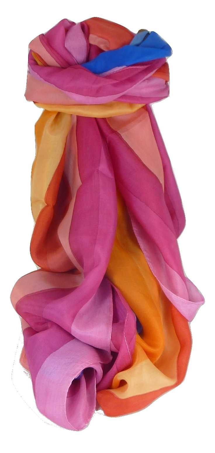 Mulberry Silk Classic Long Scarf Cherian Rainbow Palette by Pashmina & Silk