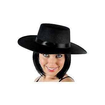 Kapelusze czarny kapelusz hiszpański