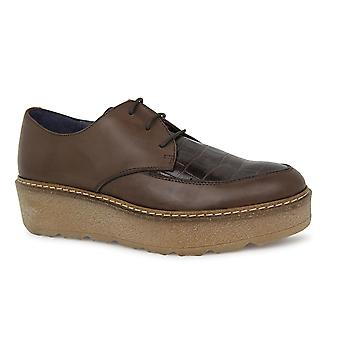 Liberitae shoes laces and Blucher Karin Leather Brown 21703308-01