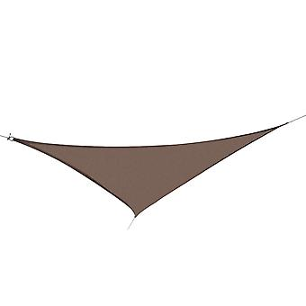 Outsunny Sun Shade Sail UV Resistant Outdoor Lawn Patio Shelter Garden Canopy Awning - (Triangle(3 meter), Light Brown)