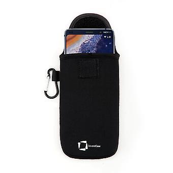 InventCase Neoprene Protective Pouch Case voor Nokia 9 Pureview 2019 - Zwart