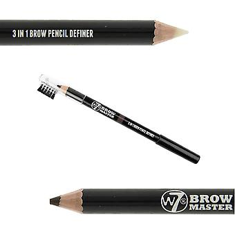 W7 Brow Master 3 i 1 Brow blyant Definer Brown