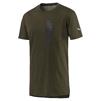 プーマ エネルギー Triblend グラフィック メンズ フィットネス トレーニング t シャツ t シャツ グリーン