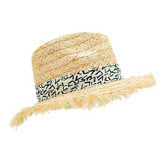 Weird Fish Ladies Mamon Straw Panama Hat