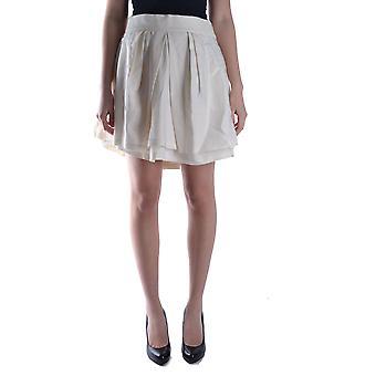 Neil Barrett Ezbc058006 Women's White Wool Skirt