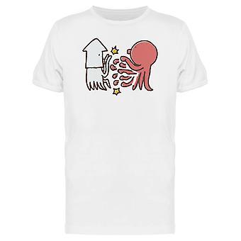 Kraken und Tintenfische kämpfen T-Shirt Herren-Bild von Shutterstock