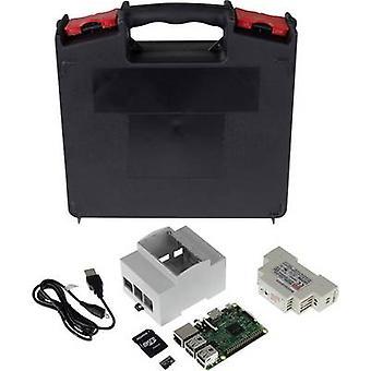 Joy-IT DIN-kisko setti Vadelma Pi® 3 B 1 GB 4 x 1,2 GHz DIN-kisko asennettu kotelo, DIN-kisko virta lähde, noobs OS, säilytys kotelo
