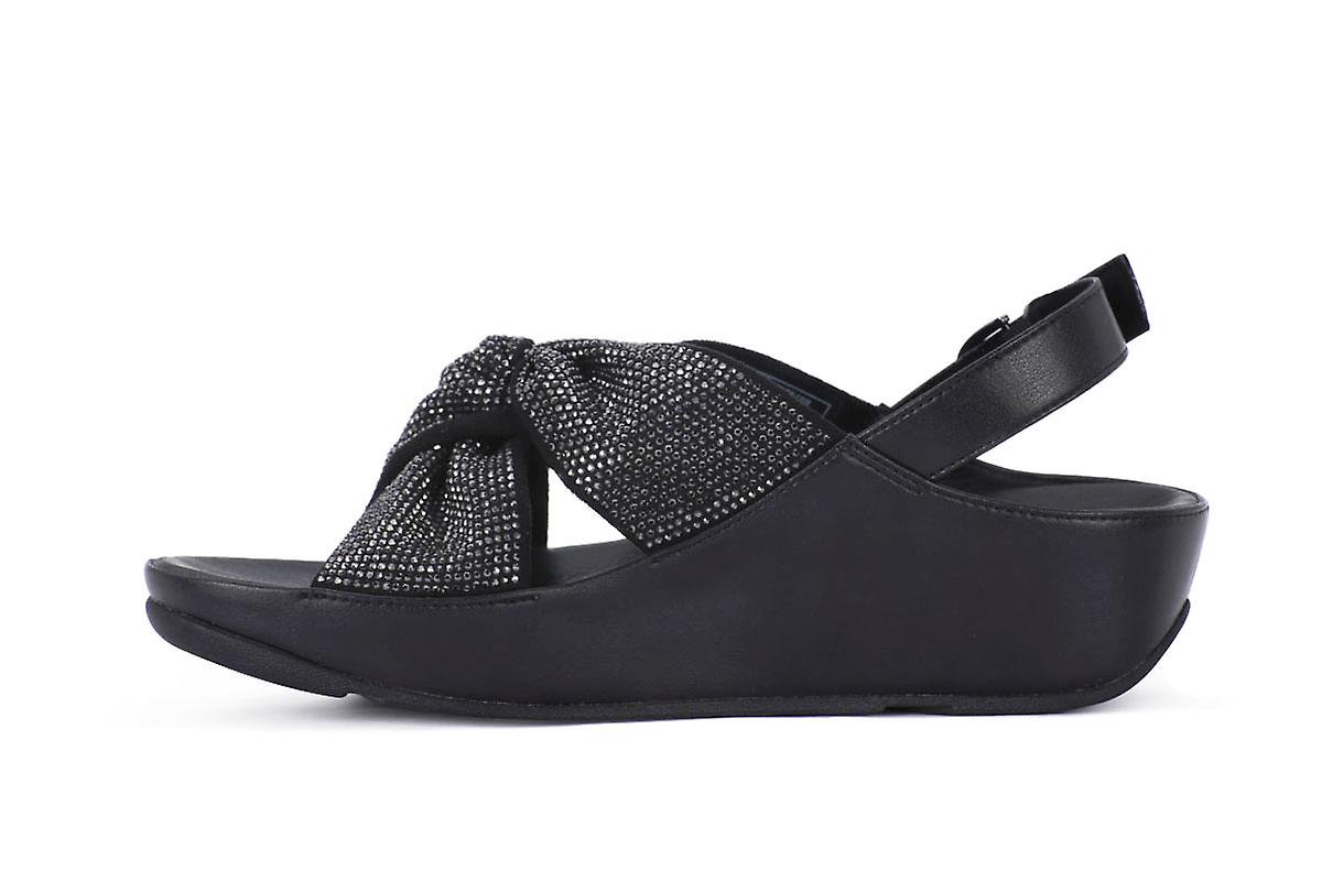 Fit flop twiss crystal black infradito