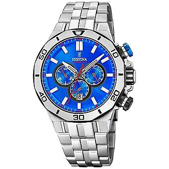 Festina Chrono Bike 2019 | Pulsera de acero inoxidable | Blue dial F20448/2 Watch