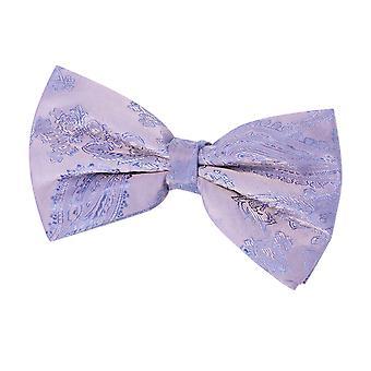 Dobell Mens Lavender Paisley Bow Tie Pre-Tied
