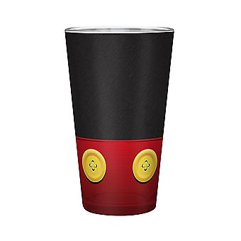 Disney XXL lasi Mikki musta/punainen, lasia, tilavuus n. 500 ml.