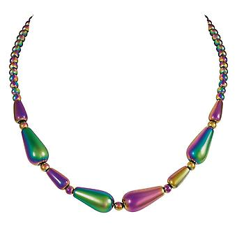 Eternal Collection Mystique Rainbow Hematite Beaded Necklace