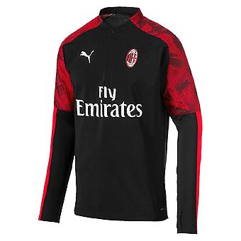 2019-2020 AC Milan Puma Quarter Zip Training Top (Schwarz) - Kinder