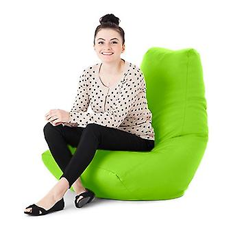 Lime Faux Leather Gaming Highback Bean Bag Lounger Chair