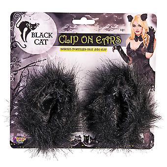 Bristol Novelty Black Cat Clip On Ears
