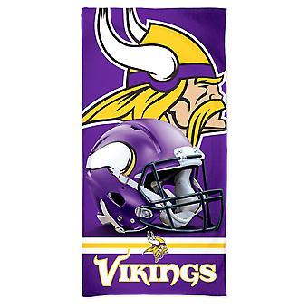 ウィンクラフト NFL ミネソタ バイキングス 3D ビーチタオル 150x75cm
