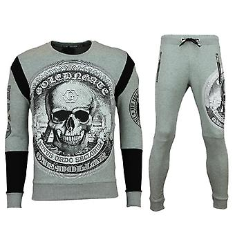 Tracksuits - Jogging suit - Skull Print - Grey